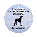 Heavenly Italian Greyhounds Ornament