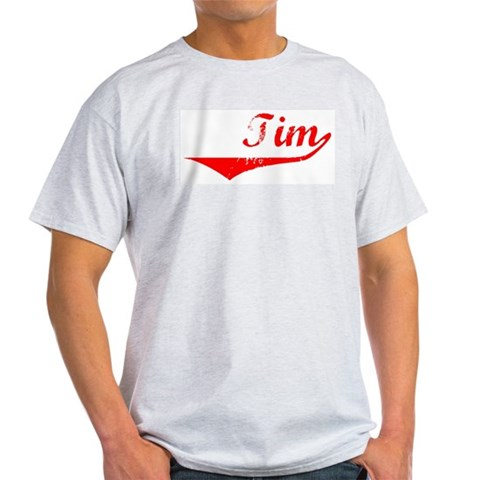 Tim Vintage Red Vintage Light T-Shirt by CafePress