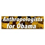 Anthropologists for Obama bumper sticker