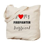 Gifts for firefighters and their girlfriends, personalized tote bags with future firefighter baby diaper bags and tote bags for shopping, travel and easy to carry fun.  Click to browse our firefighter boyfriend designs.......