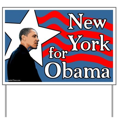 The New York State Democratic Committee doesn't want any dissent from the Hillary Clinton campaign push. Be your own Democrat, and support Barack Obama with this lawn sign for the NY primary in 2008.
