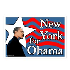 New York for Obama postcards