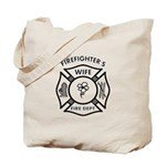 Tote bags with firefighter themes now designed for firefighter wives! Our tote bags are roomy, have easy carry handles and are perfect for shopping, travel bags or even baby diaper tote bags!  Take our tote bags to the office and on the go, browse our personalized tote bags today........