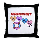 Baby pillow gift ideas personalized for a firefighter's baby!  Our pillows are perfect for baby rocking chairs, decorating with a throw pillow and will look great on the family couch!