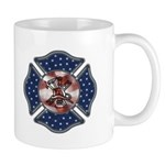 Firefighter mugs with USA, patriotic and eagle designs.  Our cofee mugs are filled with hot flames, firefighting themes and perfect for home or the fire station.  Treat yourself to a firefighter mug gift today...