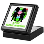 Stop Global Warming Keepsake Box