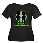Stop Global Warming Women's Plus Size Scoop Neck D