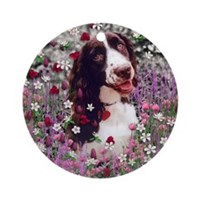 Lady in Flowers Ornament (Round)