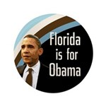 Florida for Obama Extra Large Button