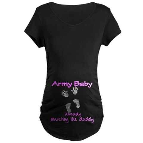 -Army Baby, ACU prints Military Maternity Dark T-Shirt by CafePress