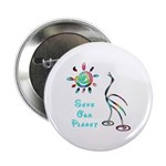 "Save Our Planet 2.25"" Button (100 pack)"