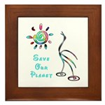 Save Our Planet Framed Tile
