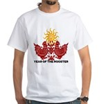 Year of The Rooster Papercut White T-Shirt