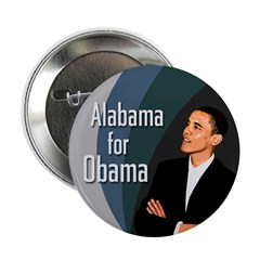 Alabama for Obama campaign button