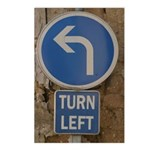 Turn Left Postcards (Package of 8)