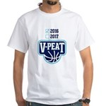 V PEAT WHITE GRAY T-Shirt