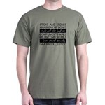 Sticks and Stones and... Anxiety T-Shirt