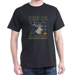 Big Game Elk Hunting Christmas Ugly Holida T-Shirt