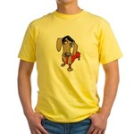 Female Dachsund Yellow T-Shirt