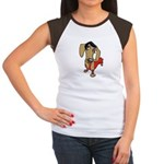 Female Dachsund Women's Cap Sleeve T-Shirt