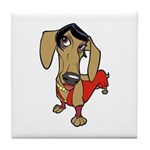 Female Dachsund Tile Coaster