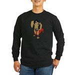 Female Dachsund Long Sleeve Dark T-Shirt
