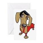Female Dachsund Greeting Cards (Pk of 10)