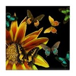 Butterfly Gardens Tile Coaster