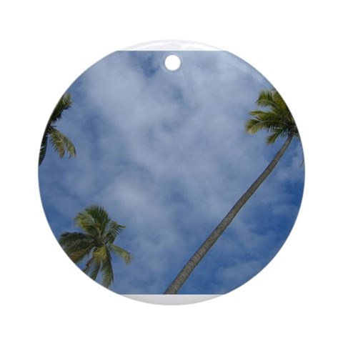Palm Trees Ornament Round Tropical Round Ornament by CafePress