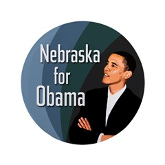 Nebraska for Obama Extra Large Button