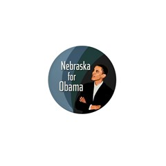 Nebraska for Obama Mini Button