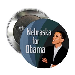 Ten Nebraska for Obama campaign buttons