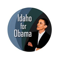 Big Idaho for Obama 3.5 Button