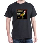 The Year of the Rooster - 2017 - on black T-Shirt