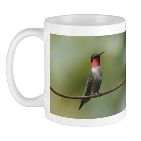 Male Ruby-throated Hummingbird  Nature Mug by CafePress
