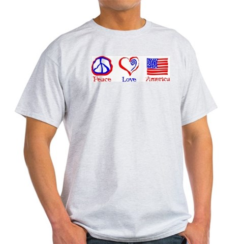 Peace Love America  Peace Light T-Shirt by CafePress