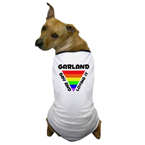 Garland Gay Pride 006 Gay pride Dog T-Shirt by CafePress