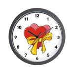 "You will love our wall clocks with hearts and flowers perfect for Valentine's Day, birthdays and time to say ""I Love You"" gifts!"
