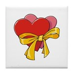 Love Hearts Tile Coaster