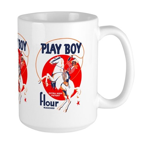 Play Boy Flour  Texas Large Mug by CafePress