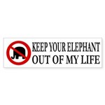 Keep Your Elephant Out of My Life (sticker)