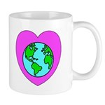 "Mugs for coffee or green tea filled with organic beverages and planet earth ""eco-friendly"" messages!  Mugs that make a statement and a difference on the planet!"