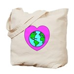 Love Our Planet Tote Bag helps you spread the message to stop global warming and importance of recycling!