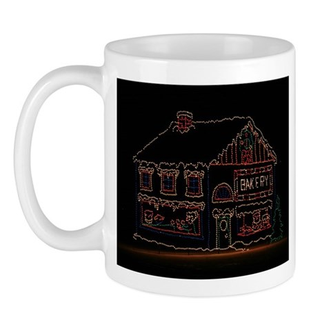 Christmas Light Display Christmas Mug by CafePress