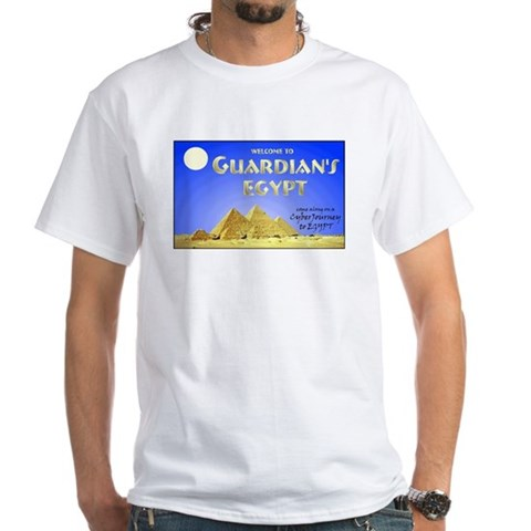 White T-shirt Egypt White T-Shirt by CafePress
