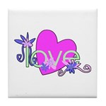 Love Gifts Tile Coaster