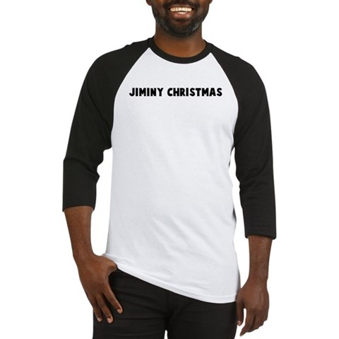 Jiminy christmas Sayings Baseball Jersey by CafePress