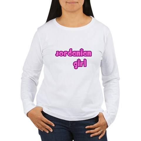 Jordanian Girl Jordan Family Women's Long Sleeve T-Shirt by CafePress
