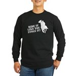 Ride it like you stole it! Horse racing gifts!