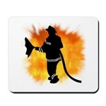 Personalized mouse pads for firefighters complete with flames and fire!